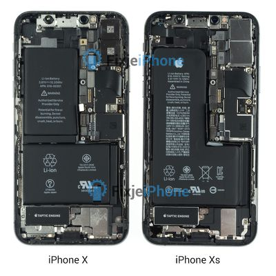 iphone x vs iphone xs teardown