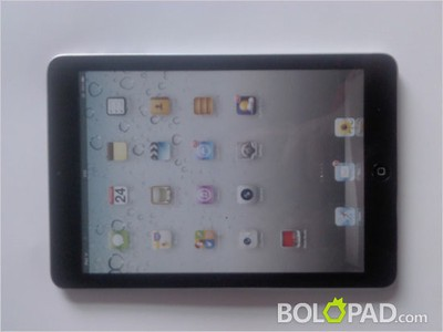 black ipad mini mockup front