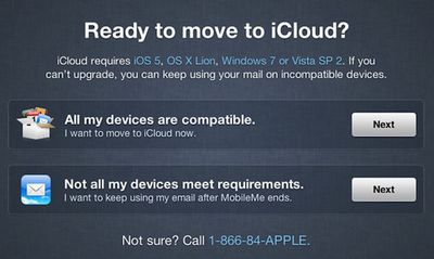 icloud move email only