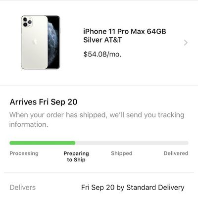 iphone 11 preparing to ship 2