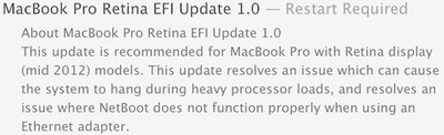 macbook pro retina efi update 1 0