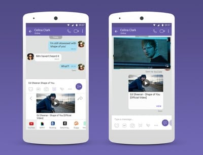 Viber Chat Extensions Youtube Handset