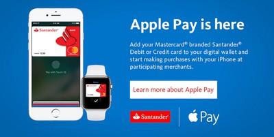 santander bank apple pay