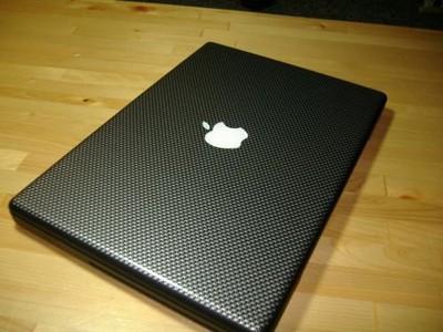 carbon fiber macbook pro decal
