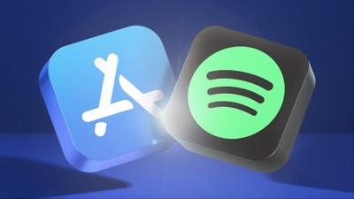 app store blue banner spotfiy