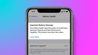 mensaje importante de batería iphone 11