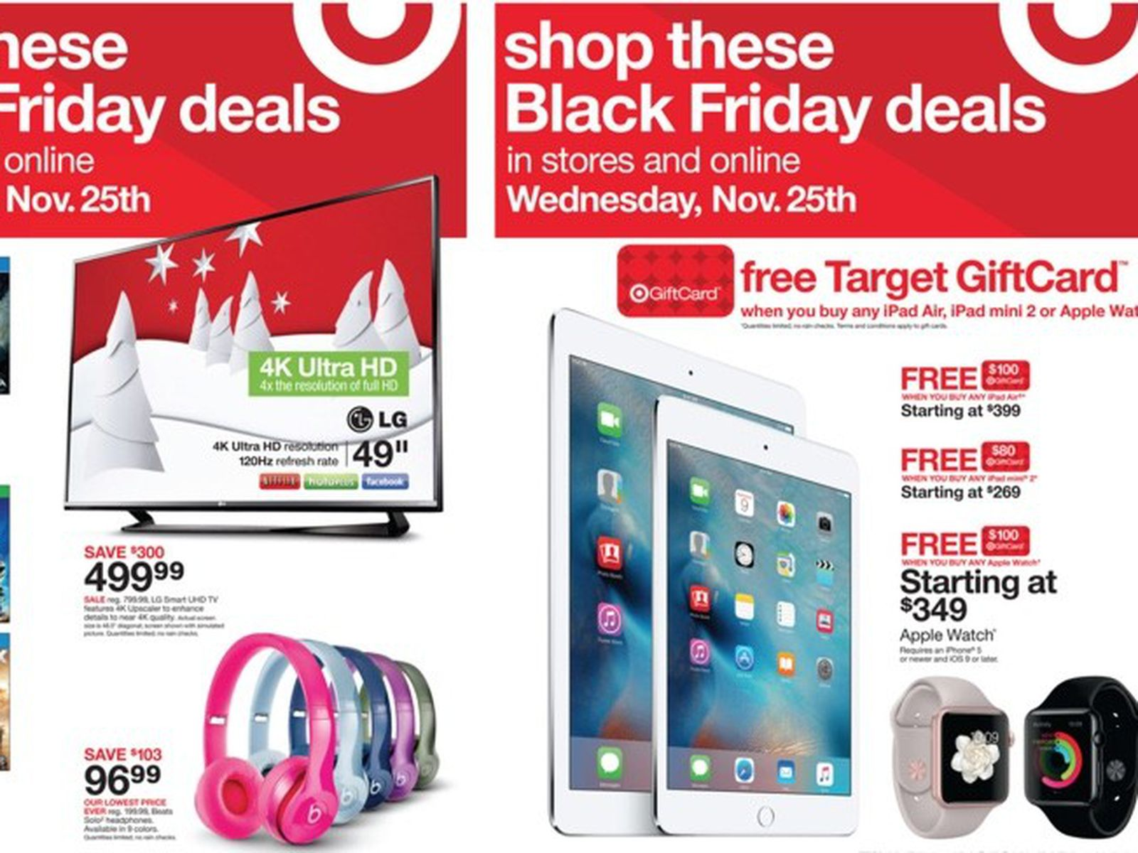 Target S Black Friday Early Access Sale Now Live With Discounts On Apple Watch Ipad Macrumors