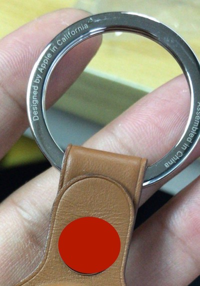 alleged apple airtag keychain accessory