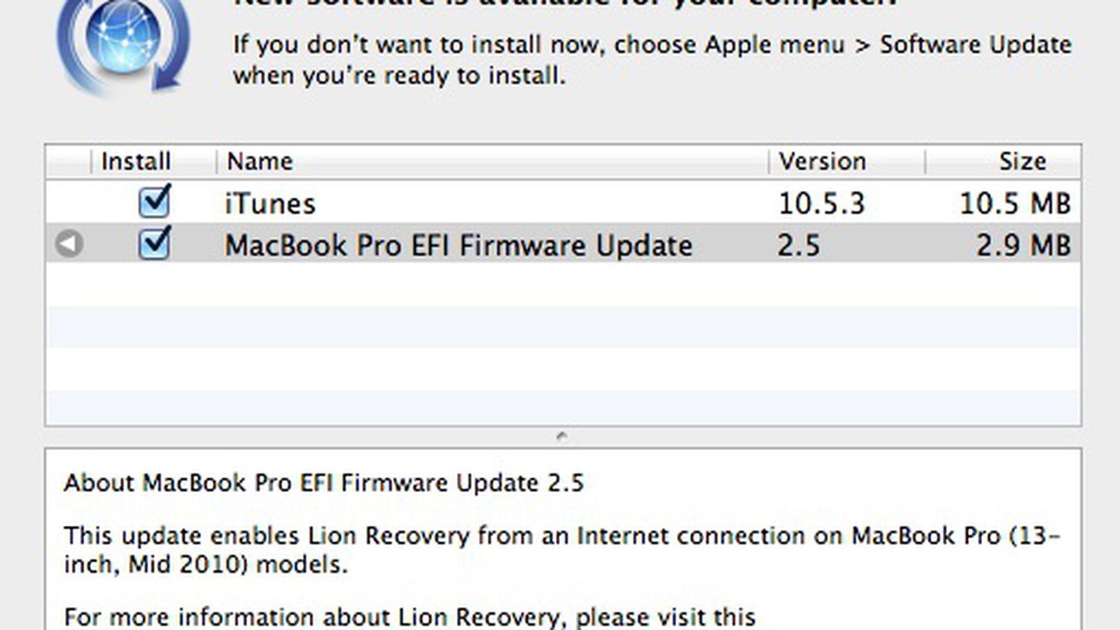 Macbook pro efi firmware download version