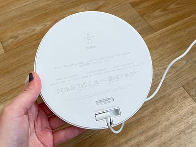 belkin charger bottom