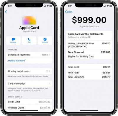 apple card monthly installments iphone 2
