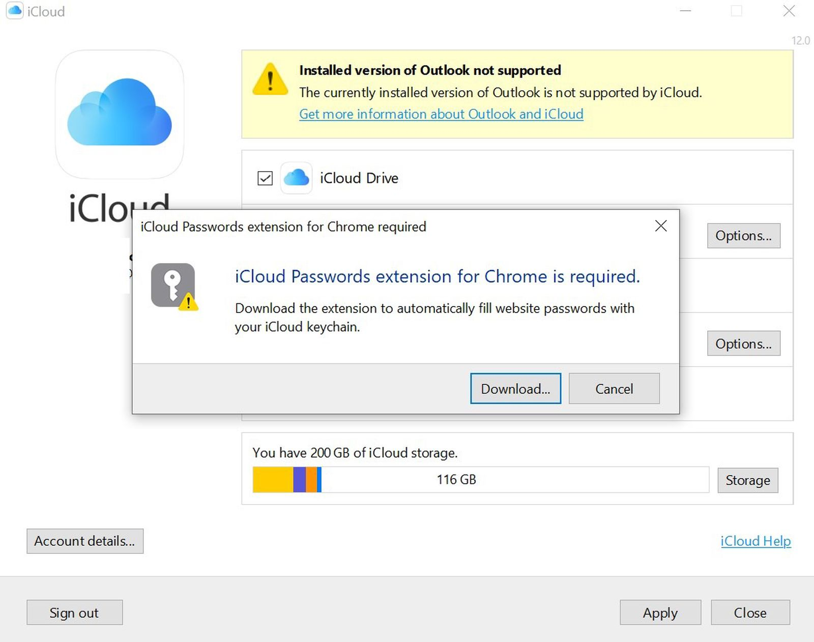 Apple Pulls Version 12 of iCloud for Windows That Supported iCloud Passwords Chrome Extension