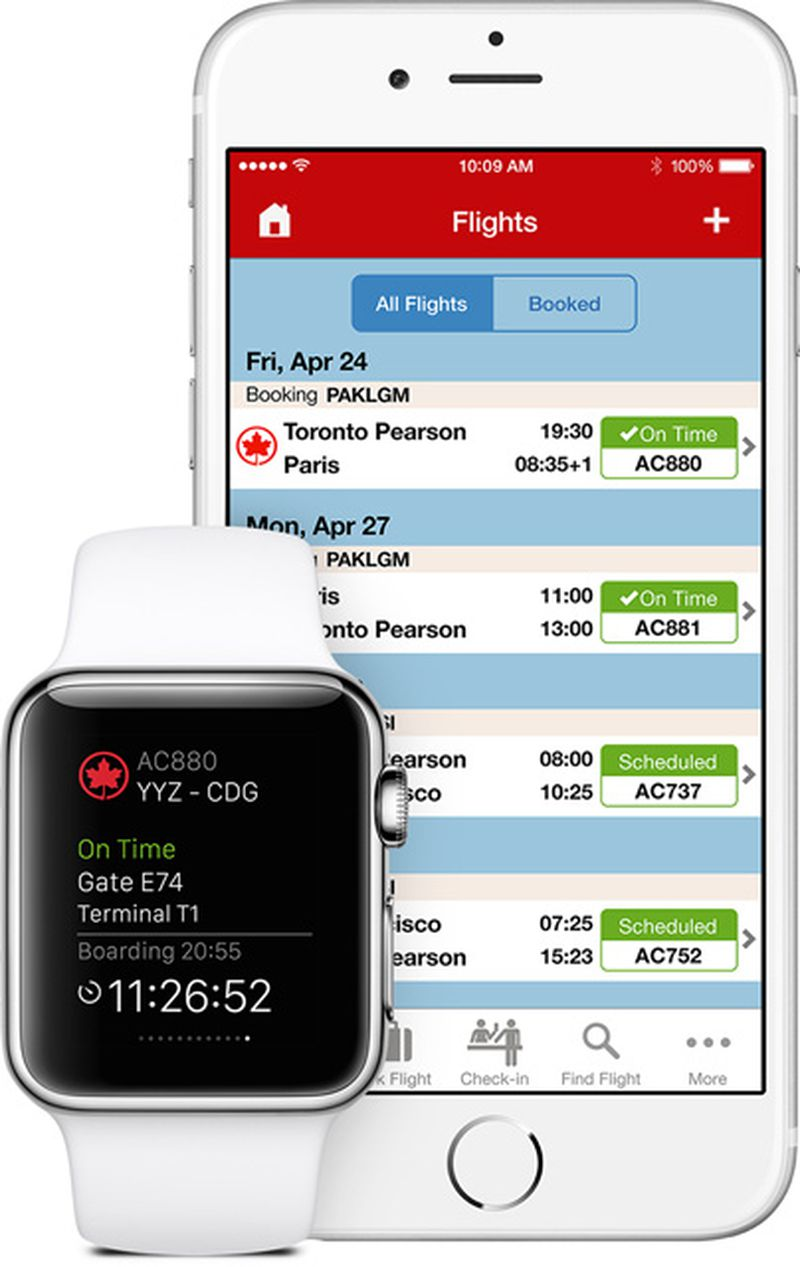 Air Canada Apple Watch