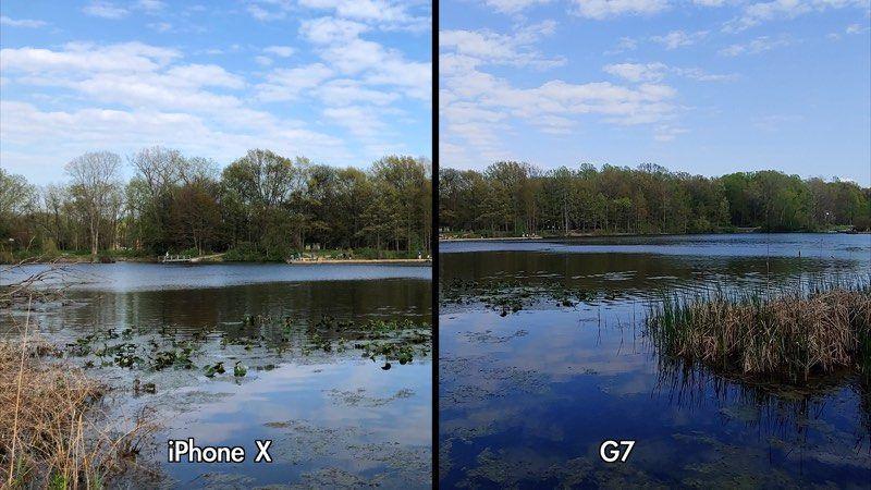 lg g7 iphone camera thinq compared macrumors comparison aivanet