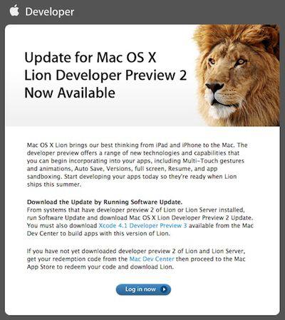 140957 lion dev preview 2 update