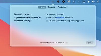 displaylink manager macos