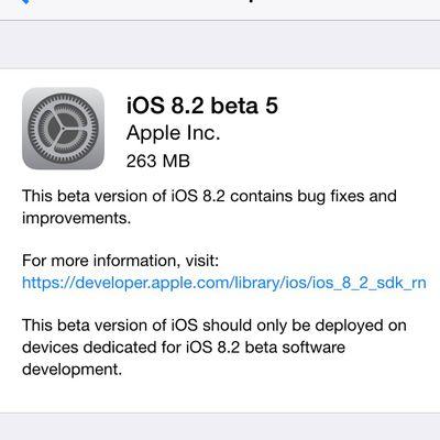 ios 8 2 beta 5