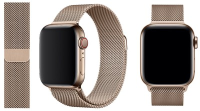 apple watch s4 gold milanese loop