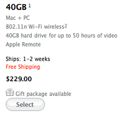 163852 apple tv 40gb