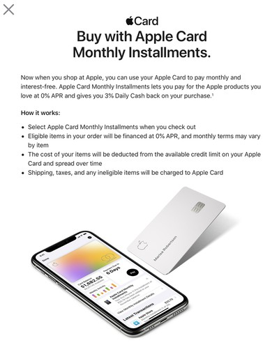 apple card mac installments popup