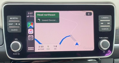 nissan leaf carplay google maps