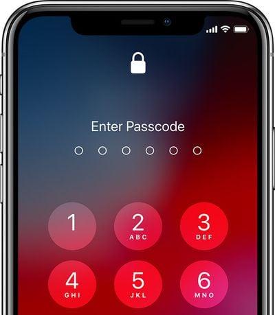 ios12 iphone x enter passcode