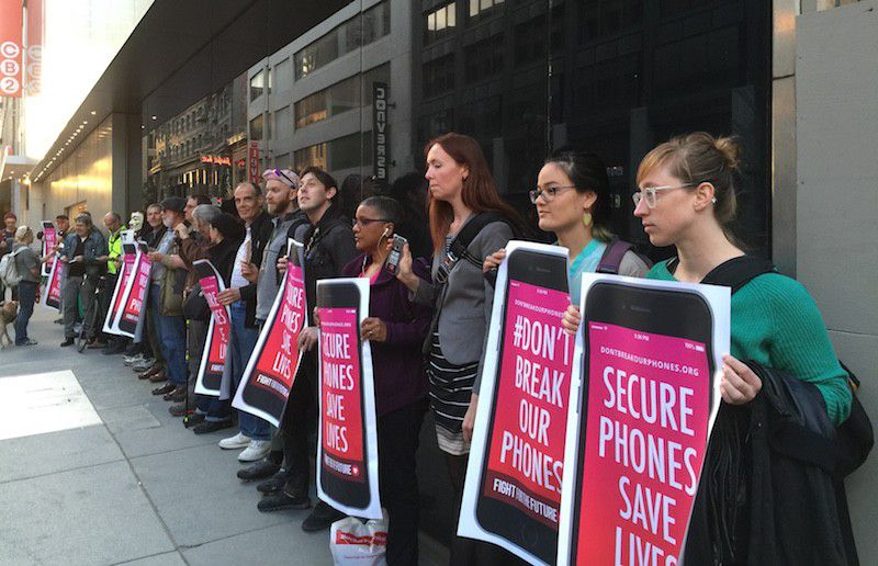 Privacy protest