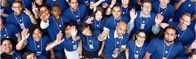 apple retail employees overhead