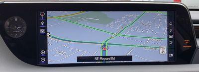 lexus es widescreen maps