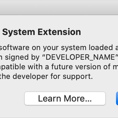 macos catalina legacy system extension alert