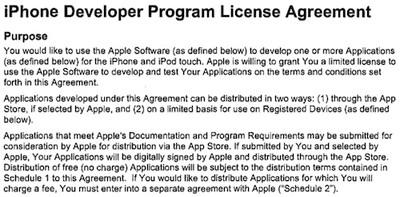 145357 iphone developer agreement