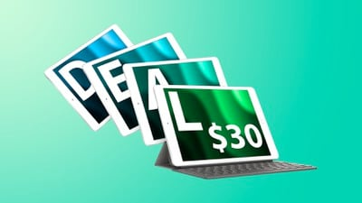 iPad fanned out deals teal