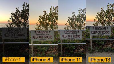 iphone camera comparison sunset