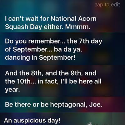 siri september 7 responses