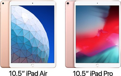 10 5 inch ipad air vs pro