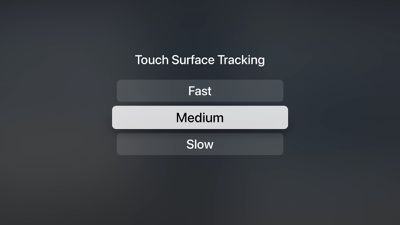 apple tv siri remote tracking settings