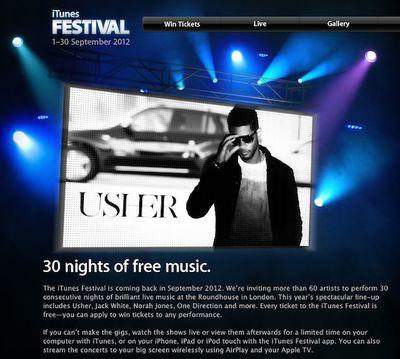 itunes festival 2012