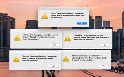 Damaged-Mac-App-Store-Apps