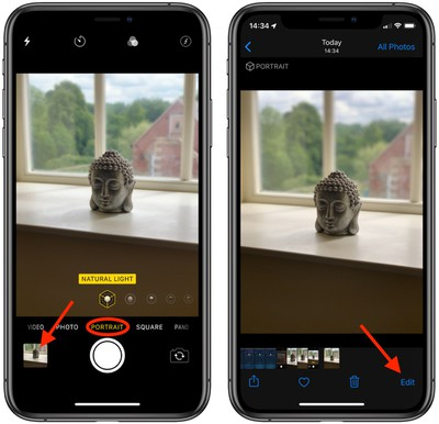 How to use portrait lighting adjustment tools ios 2