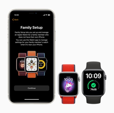 apple watch family setup iphone 11