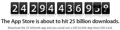 app store 25 billion countdown