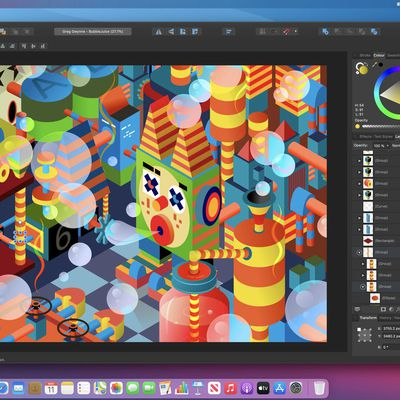 affinity designer running on macos big sur