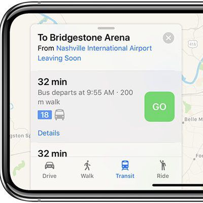 apple maps transit nashville tennessee