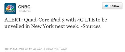 cnbc ipad 3 tweet