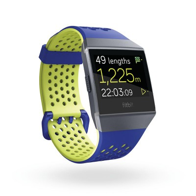 Fitbit Ionic 3QTR Sport Cobalt Lime In Exercise Swim
