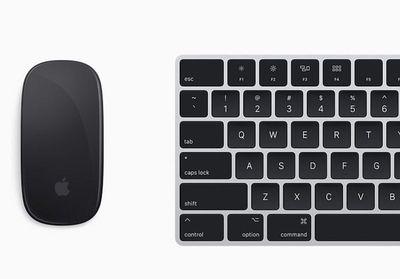 mac pro silver and black magic keyboard