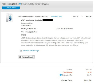 iphone 6s order