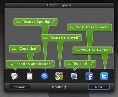 dragon express output options