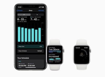 apple watch sleep tracking and hand washing