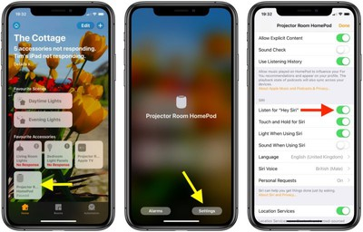 how to turn off hey siri on homepod